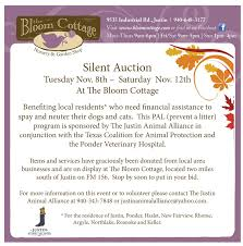 silent auction program template the justin animal alliance previous silent auction
