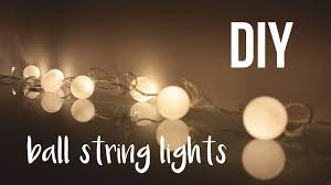 diy ball string lights roomdecor youtube