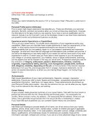 What To Put In A Resume Profile Updated What To Put In Profile For