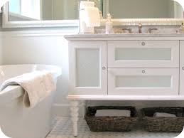 Fab Grey And White Bathroom Vanities With Marble Top Also White