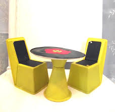 seventies furniture. barbie dollhouse table and chair seventies furniture