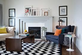 black and white rug living room. herringbone wood floor living room transitional with black and white rug. image by: natalie fuglestveit interior design rug l