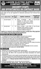 new career jobs syllabus paper for lahore electric supply company click here