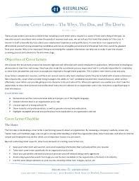 cover letter dos and don ts resume cover letters the whys the dos and the donts
