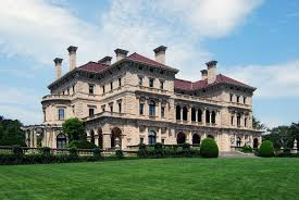 the gilded age boundless us history side view of the facade of the breakers