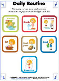 Daily Routine Printable Daily Routine For Kids Printable Schedule Prompts