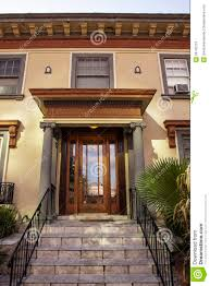 Entrance To A Craftsman Apartment Building Stock Photos Image