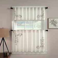 ... Delightful Kitchen Decoration With Various Kitchen Curtain Pattern :  Exciting Home Interior Decoration Using White Flower ...