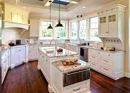 polar cream granite white kitchen cabinets with counters