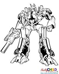 Small Picture optimus prime ready to fight Transformers Coloring Pages