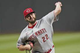 Reds' Wade Miley pitches the fourth no ...