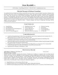 Physical Therapist Sample Resume Format Nursing Resume