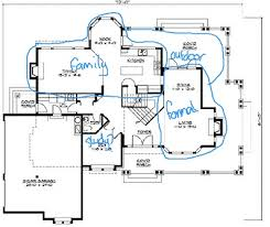 floor plan symbols stairs. Floor Plan With Room Groupings Marked Symbols Stairs