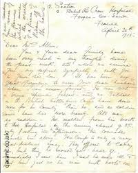 Letter World World War 1 Letters To Loved Ones From Nurses To Widows