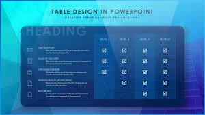 Design For Powerpoint Presentation How To Design A Beautiful Table Slide In Microsoft Office 365