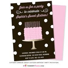 Sixteen Candles Sweet 16 Birthday Cake Party Invitation Inkberry