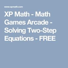 xp math math arcade solving two step equations free