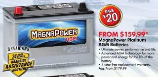 Magna Power Battery Application Chart Magnapower Platinum Agm Batteries Yp Ca