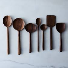 Simple Walnut Wooden Spoons