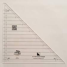 Half Square Triangle Ruler Tutorial