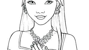 Coloring Pages Of A Girl Girl Skull Coloring Pages Girly Coloring