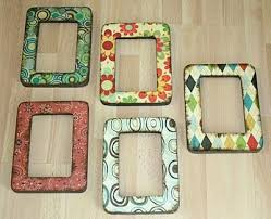 Cheap picture frames + scrapbook paper= cute cheap picture frames. It's  time to redo