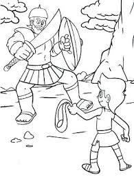 David And Goliath Coloring Pages Page Lds Oasisescapesco
