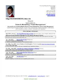 Complex Hotel Management Resume Samples Freshers Simple Cv Format