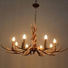 antlers chandelier 6 or 8 heads candle antler chandelier retro resin deer horn lamps home decoration