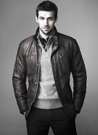 guys how to wear a leather jacket leather jacket outfits fashion ideas grey sweater