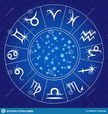 Zodiac Signs Zodiacal Circle Astrological Calendar Vector