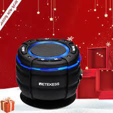 Retekess TR622 Bluetooth hoparlör IPX67 su geçirmez kablosuz duş hoparlörü  araba FM radyo ile taşınabilir hoparlör vantuz Radyo
