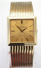 mens 9ct gold bueche girod quartz dress watch attenborough stock no 8070183 men s 9ct yellow gold bueche girod swiss quartz movement