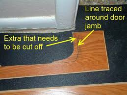 saw to cut door jambs door jambs were not cut cut door jamb install flooring