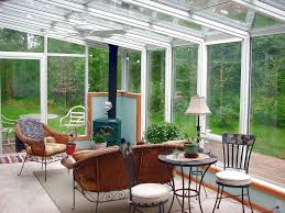 wicker furniture for sunroom. Elegant Glass Sunroom Designs With Fireplaces And Wicker Chair Furniture For