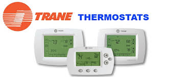 trane ac thermostat. trane thermostat logo on white background ac 0