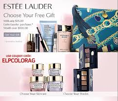 free estee lauder gift 100 value with any estee lauder purchase of 35 or more