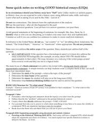 how to write the apush long essay leq  some quick notes on writing good historical essays leqs