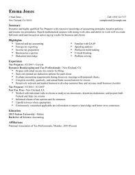 choose tax resume sample