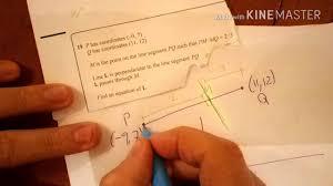 equations of perpendicular line with ratio higher new gcse 9 1 calculator exam question