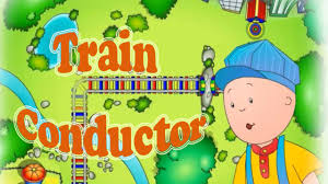 caillou game video train conductor pbs kids game