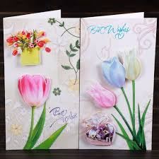 Teachers Birthday Card Us 10 5 8pcs Lot 3d Flower Print Handmade Teachers Day Birthday Greeting Card With Envelope Birthday Gift Card Set In Cards Invitations From Home
