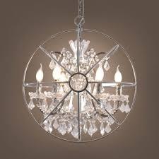 metal orb chandelier 6 lights elegant