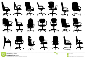 free office furniture. Office Chairs Silhouettes Vector Illustration Free Furniture