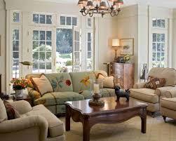 Orange Paint Living Room Cottage Chic Living Room Floral Curtain Half The Ceiling Orange