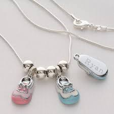 pesonalized baby shoe charm necklace thrill grandma with this adorable personalized baby shoe charm necklace