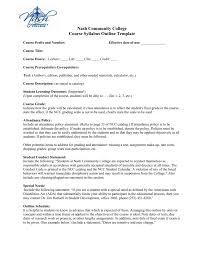 Course Syllabus Outline Template