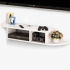Floating Shelves To Hold Cable Box Magnificent Amazon Tribesigns 32 Tier Modern Wall Mount Floating Shelf TV