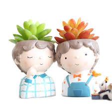 <b>roogo flower pot</b> curly juvenile <b>flower pot</b> resin <b>flower pot</b> cartoon ...
