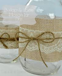 Burlap & Lace Mason Jars